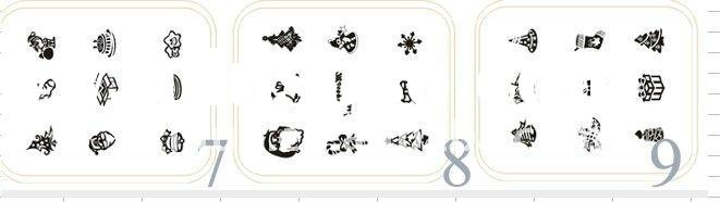 nail art stamping ,image plates ,template ,christmas template