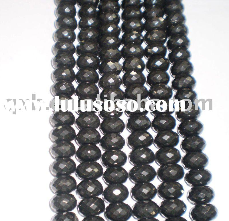natural jet loose gem beads wholesale beads strand