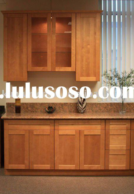 natural maple shaker wooden kitchen cabinet