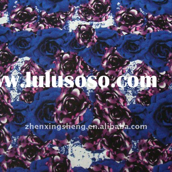 navy multi nylon spandex lace knit fabrics with floral print