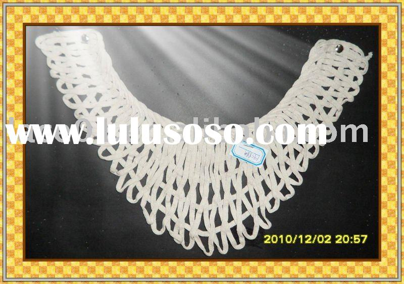 neck lace/machine embroidery lace/cotton lace collar/collar accessories/lace trimming