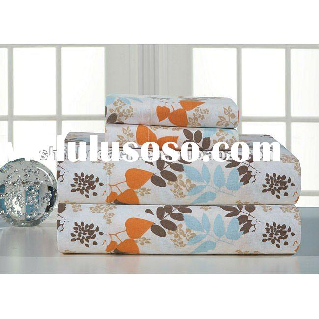 new design cotton printed bed sheets