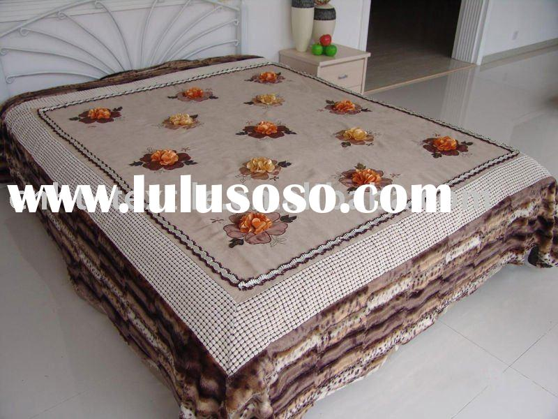 Ribbon Embroidery Designs For Bed Sheet More Information