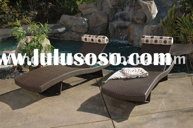 outdoor furniture Modern design all-weather rattan/wicker chaise lounge