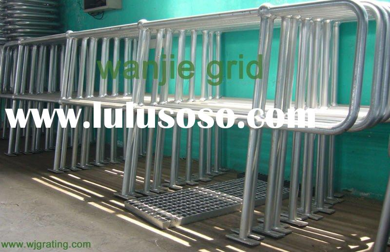 outdoor hand railing and stanchion with base plate