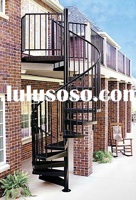 outdoor spiral stair