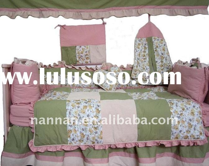 patch printed baby bedding