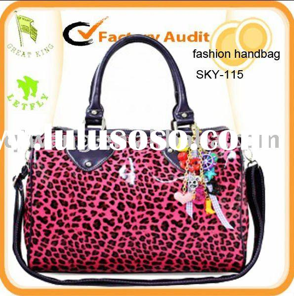 pink leather animal print handbags