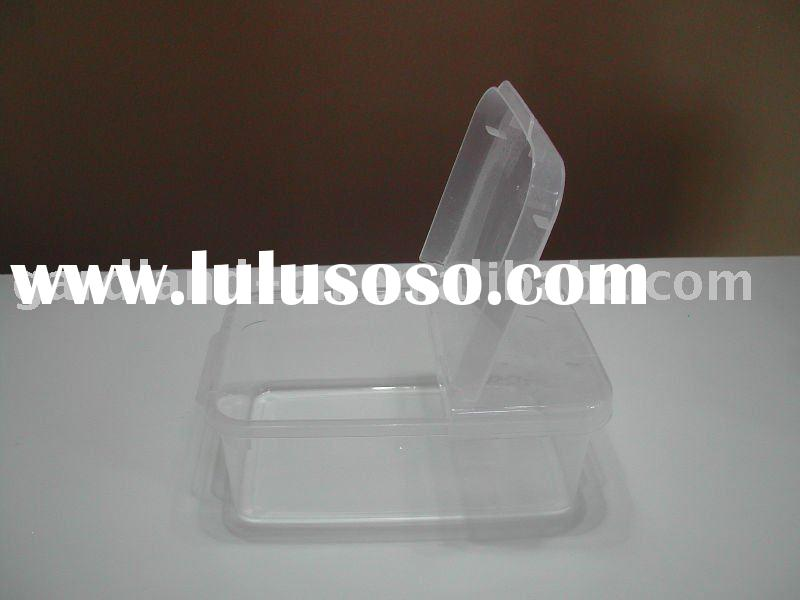 plastic food container with folding lid