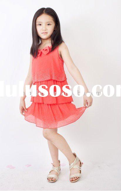 pretty girls sleeveless dress /OEM,ODM