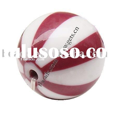 resin bead,solid color,Round, 24mm