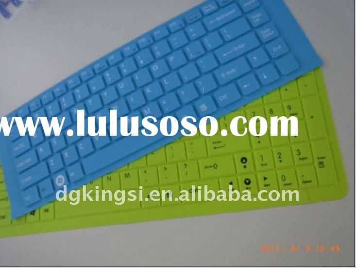 silicone colored rubber laptop keyboard covers