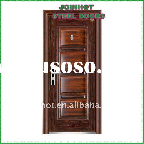 simple slap-up design,good quality front steel doors JS-1601