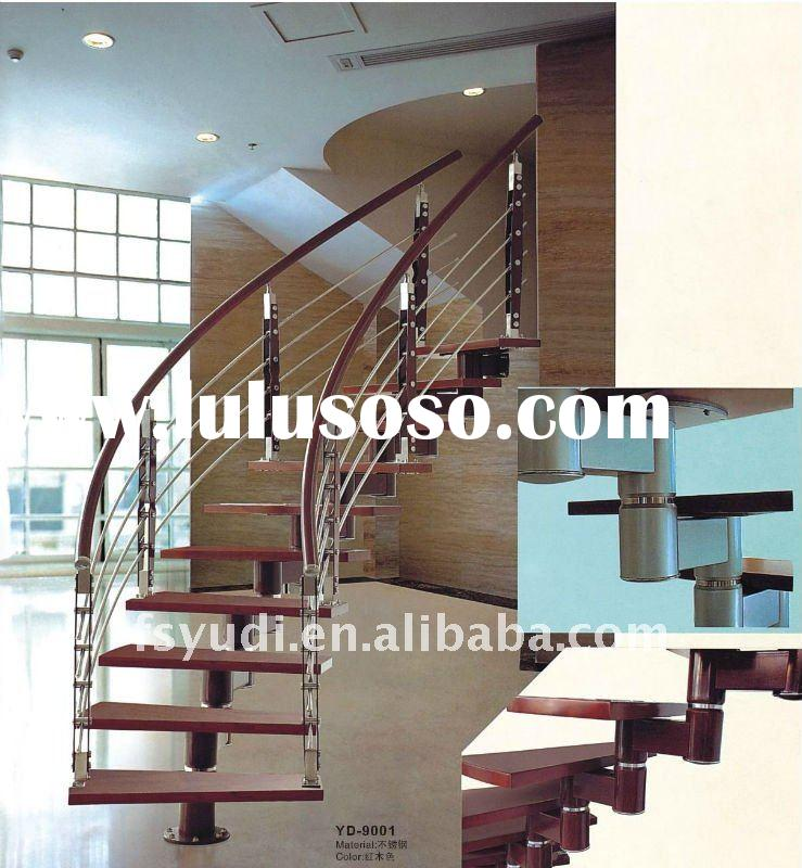staircase /handrail/ indoor steel staircase/ wood staircase