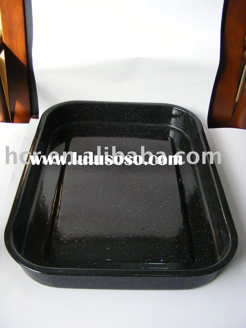 steel enamel roasting pan