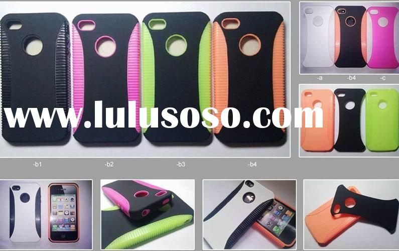 tpu+pc case hard plastic cover for iphone 4g
