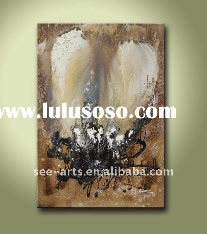 unframed canvas oil painting abstract butterfly art
