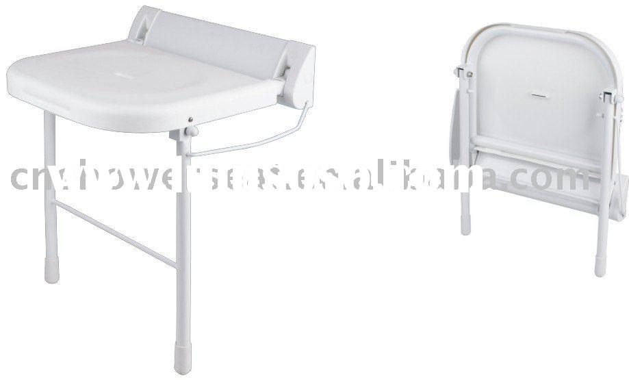 wall-mount folding shower chair with legs