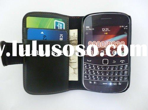 wallet card holder leather case for blackberry 9900