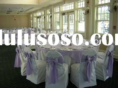 wedding chair cover&organza sash,polyester chair cover,cheap chair cover