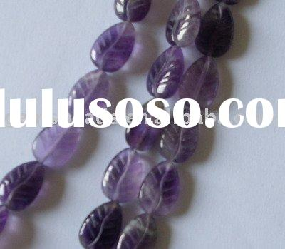 wholesale amethyst semi precious stone carving beads