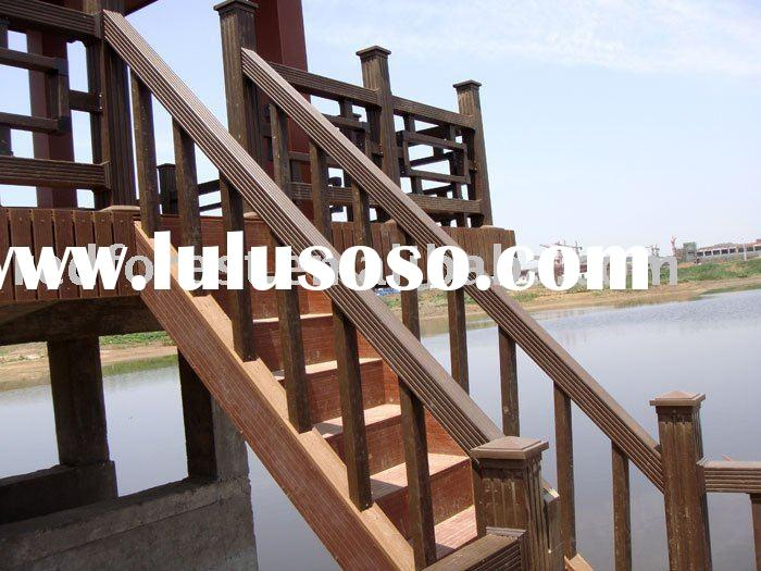 wood plastic outdoor handrail