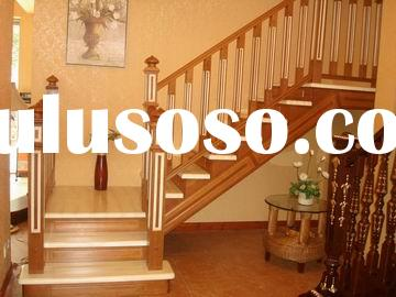 wood stair (wooden handrail, balustrade, treads)