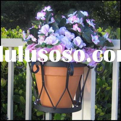 wrought iron flower pot