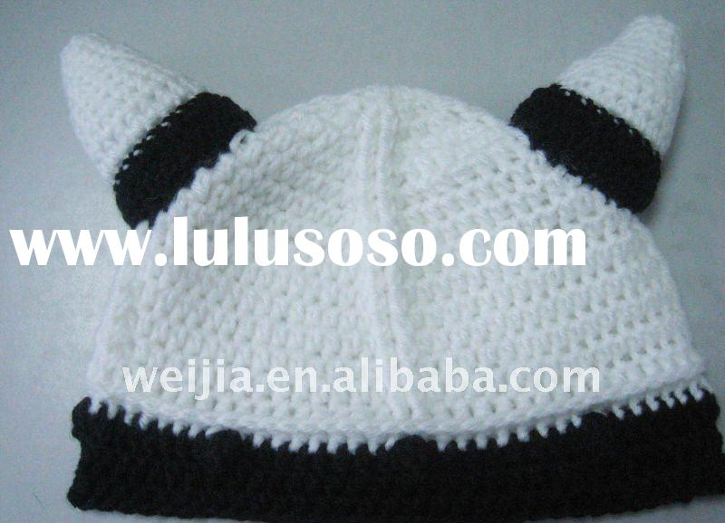 100% acrylic crochet animal hat with ear
