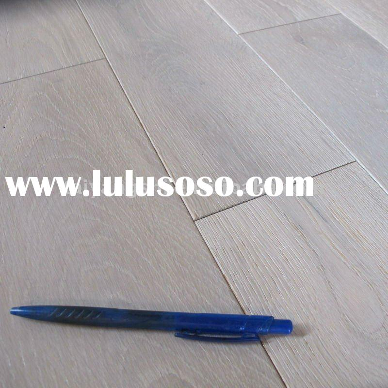 18 mm thickness Solid White washed oak wood flooring