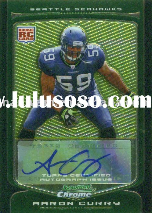 2009 Bowman Chrome Autographed 125 Aaron Curry Seattle Seahawks Football Cards