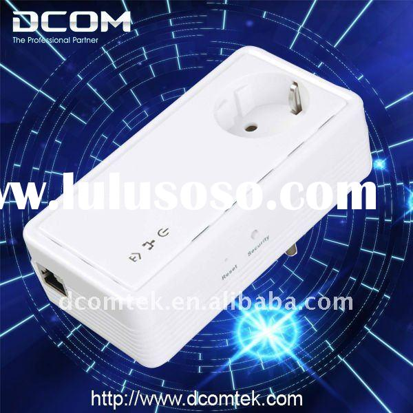 200M Wallmount Passthrough Powerline Ethernet Adapter Network Bridge(Wall plug PLC,Homeplug)