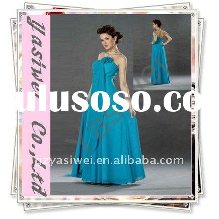 2011 Elegant Blue Strapless Chiffon Evening Dress YSW6020