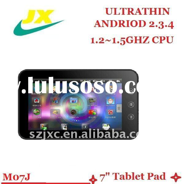 2011 best selling! multi touch 7inch tablet pc; high speed cpu ; tablet pc 7inch with front camera ;
