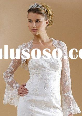 2011 boutique long sleeves lace wedding dress jackets WDJ-025