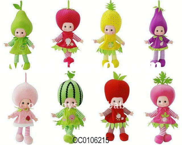2011 hot selling 20 inches the original of vegetables and fruits doll (8 designs)--OC0106215