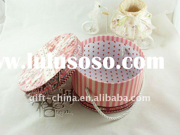 2011 pink round shaped paper cookie box