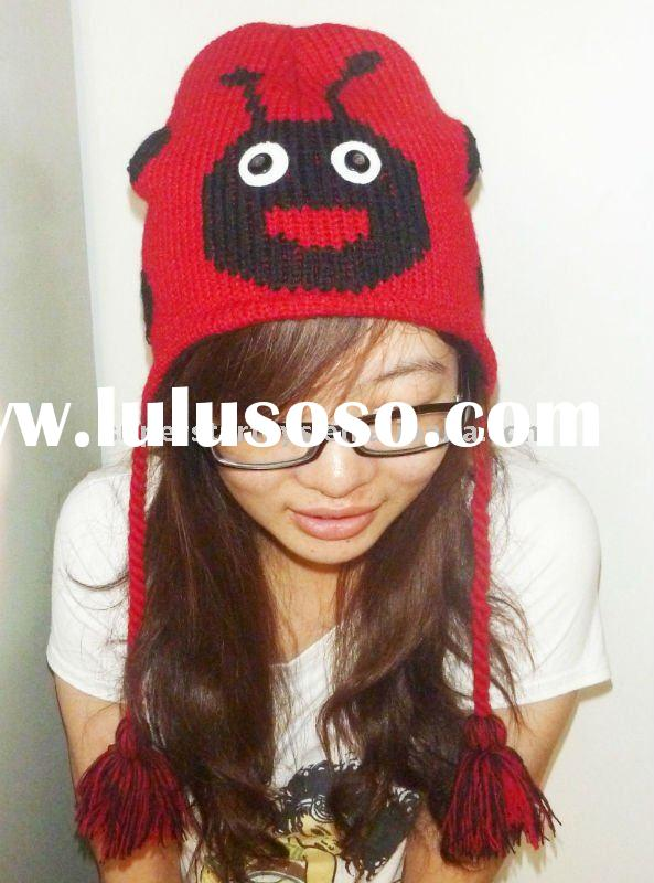 2011 winter hats, cute animal hats, knit animal hat,funny animal hats