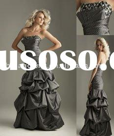 2012 latest design strapless Evening Dress CJ1106