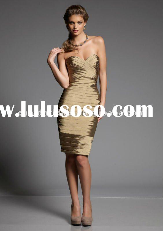 2012 latest style elegant taffeta short evening wear CBE10740