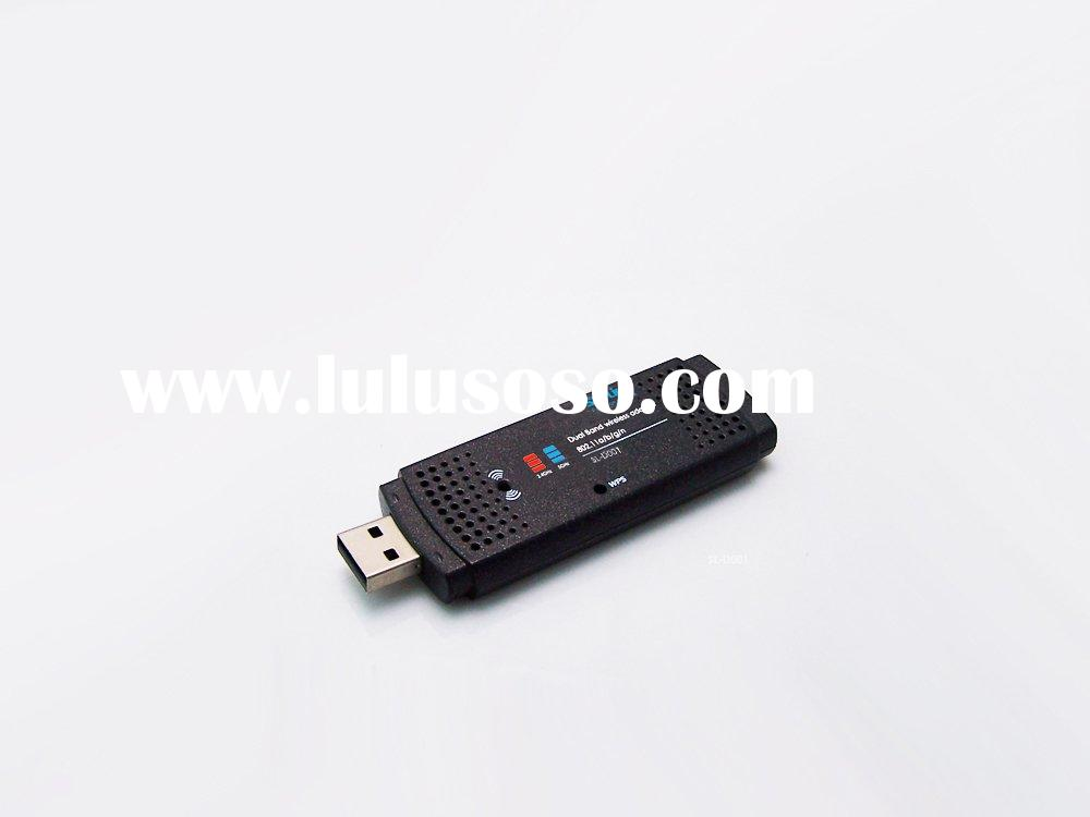 2.4GHz/ 5GHz 802.11a/b/g dual band wireless wifi USB adapter /dongle
