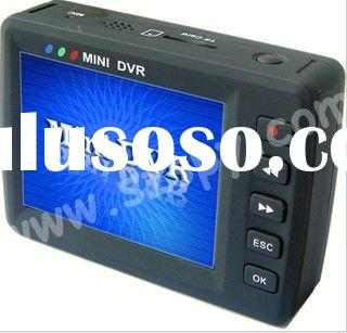 2.5 inch Mini DVR KS-650M Mini Portable MPEG-4 DVR remote control Motion Detection DVR hidden camera