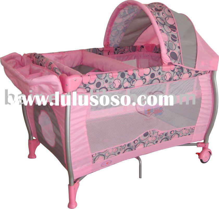 3-Part Turning Canopy Pink Play Yard