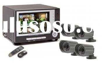 4 Channel H.264 Network DVR with 7 inch Flip-up LCD Monitor