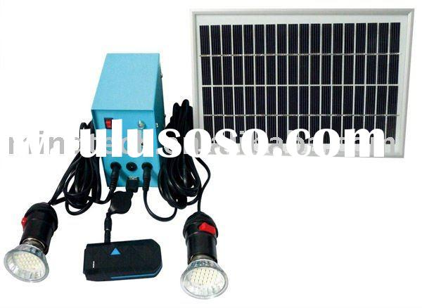 5W LED solar kits(light 2 lamps for 6--7 hours and with USB charge mobile)