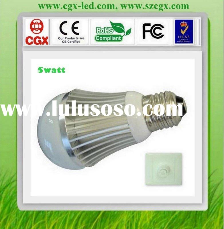 6w dimmable philips led light bulb base on CE and RoHs cetificate standard