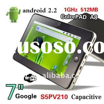 """7"""" Android 2.3 Capacitive s5pv210 Cortex A8 1GMHz 512MB/4GB with Samsung Tablet PC"""