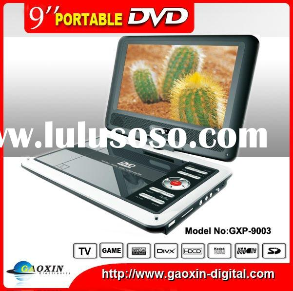 9 inch portable DVD player with rechargeable battery (GXP-9002)