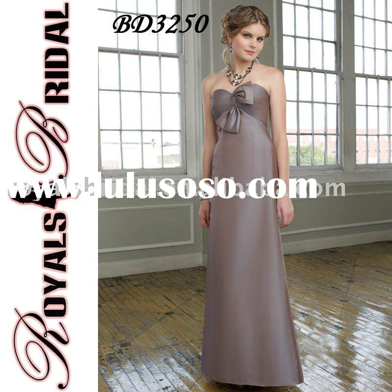 BD3250 Latest Design Strapless Floor Length Bridesmaid Dress