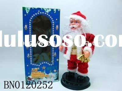B/O 12' dancing Santa Claus w/ music,light